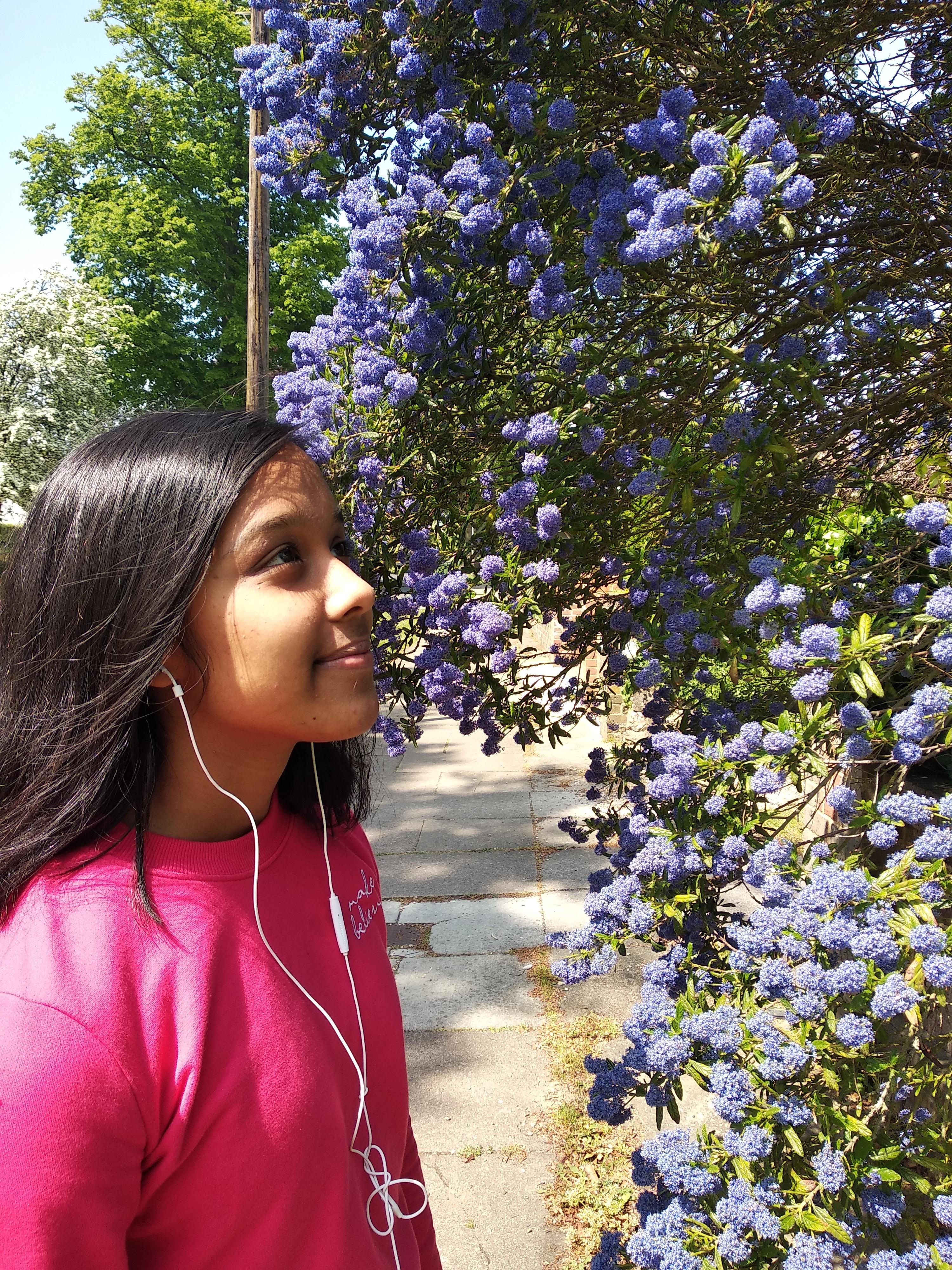 Climate activist Aria (15) in her natural habitat